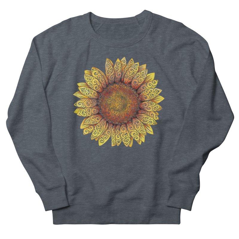 Swirly Sunflower Women's Sweatshirt by VectorInk's Artist Shop