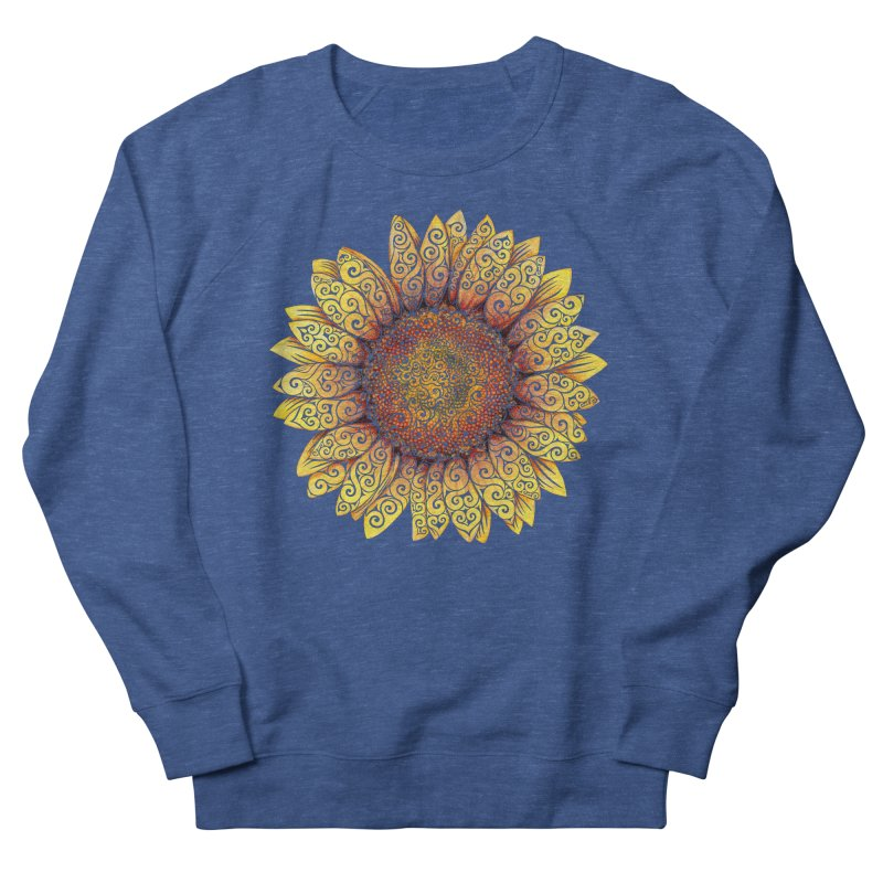 Swirly Sunflower Men's French Terry Sweatshirt by VectorInk's Artist Shop