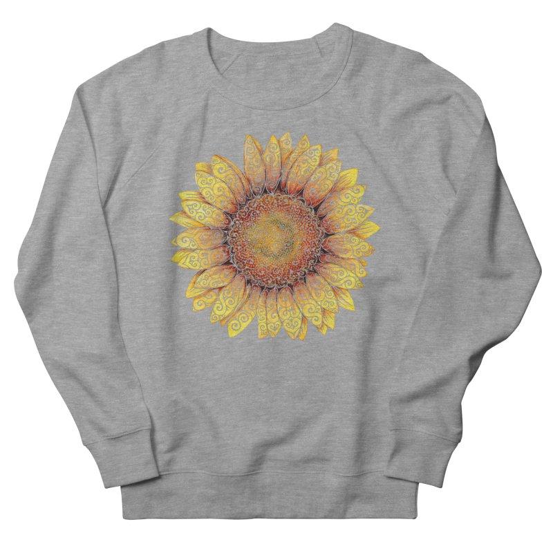 Swirly Sunflower Men's Sweatshirt by VectorInk's Artist Shop
