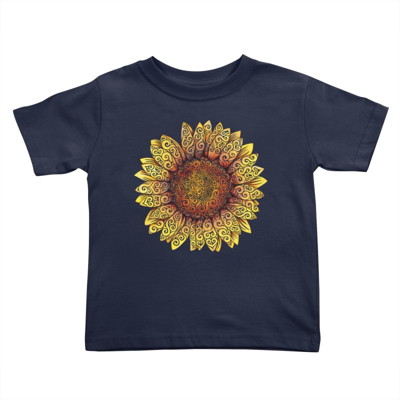 Swirly Sunflower Kids Toddler T-Shirt by VectorInk's Artist Shop