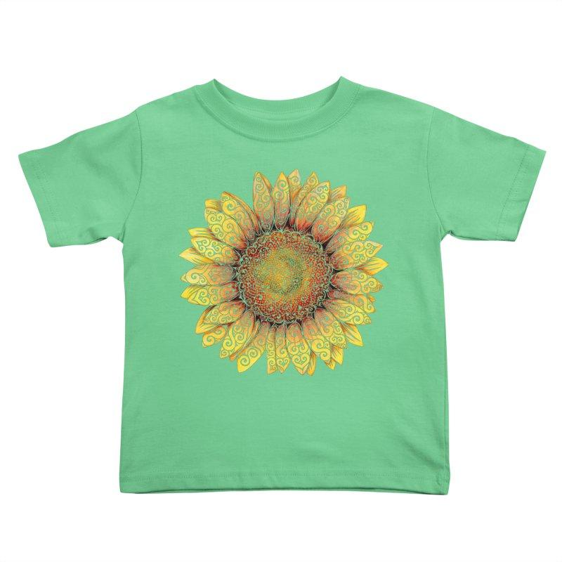 Swirly Sunflower Kids Toddler T-Shirt by VectorInk's Artist Shop