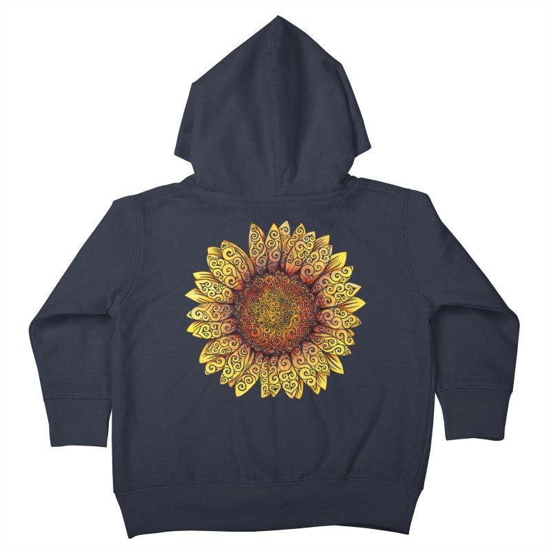Swirly Sunflower Kids Toddler Zip-Up Hoody by VectorInk's Artist Shop