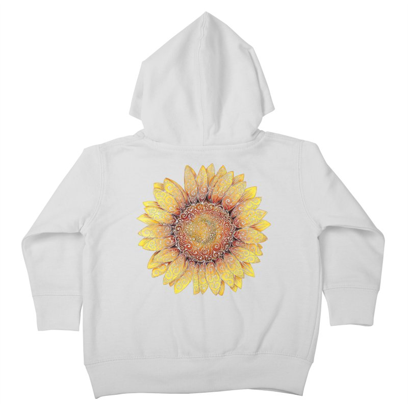 Swirly Sunflower Kids Toddler Zip-Up Hoody by VectorInk's Artist Shop