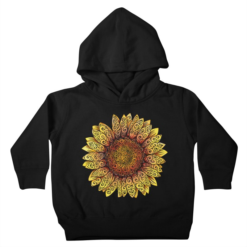 Swirly Sunflower Kids Toddler Pullover Hoody by VectorInk's Artist Shop