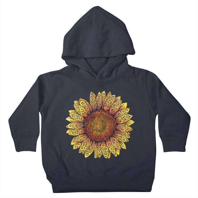Swirly Sunflower Kids Toddler Pullover Hoody by VectorInk's Artist Shop