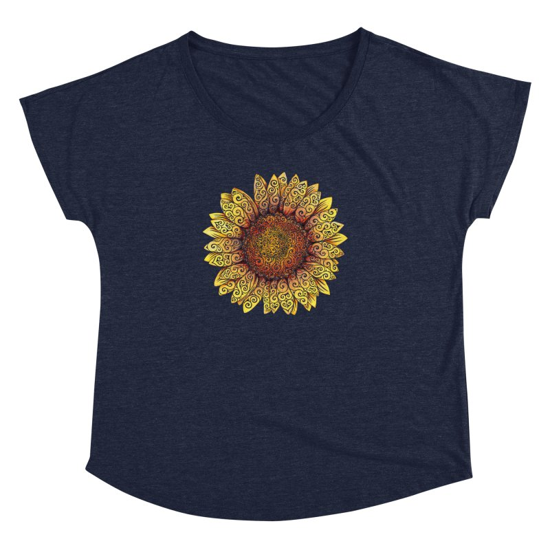 Swirly Sunflower Women's Dolman by VectorInk's Artist Shop