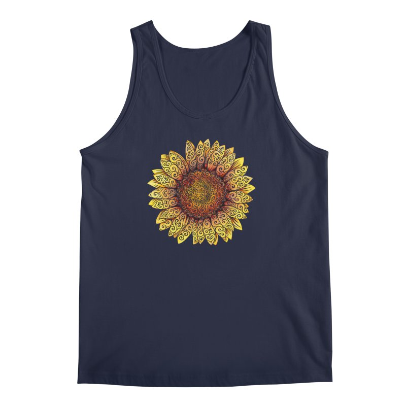Swirly Sunflower Men's Tank by VectorInk's Artist Shop