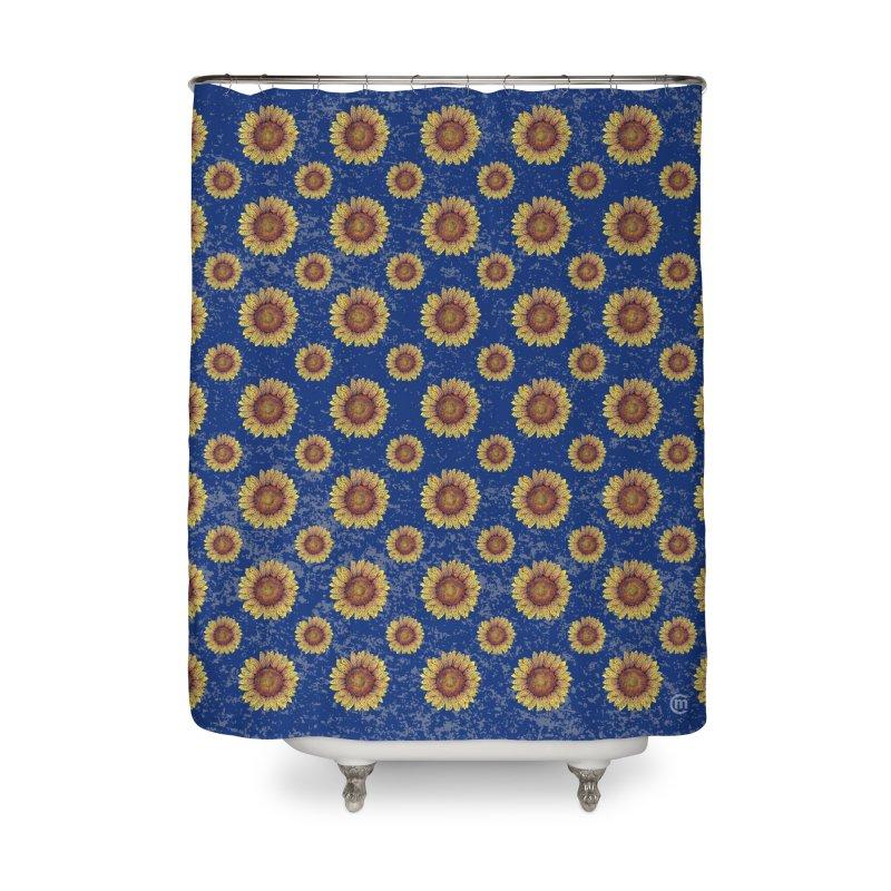 Swirly Sunflower Home Shower Curtain by VectorInk's Artist Shop