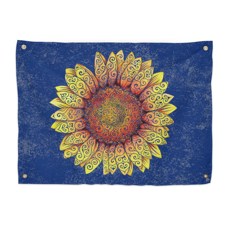 Swirly Sunflower in Tapestry by VectorInk's Artist Shop
