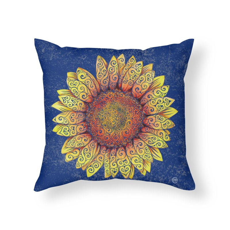 Swirly Sunflower Home Throw Pillow by VectorInk's Artist Shop