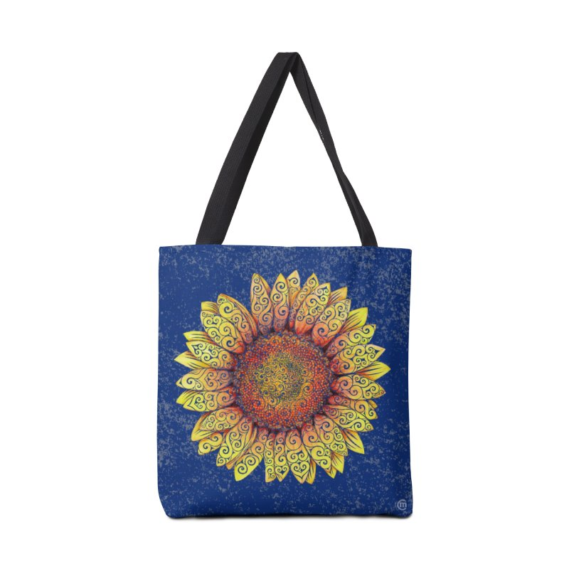 Swirly Sunflower Accessories Bag by VectorInk's Artist Shop