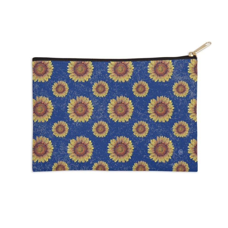 Swirly Sunflower Accessories Zip Pouch by VectorInk's Artist Shop