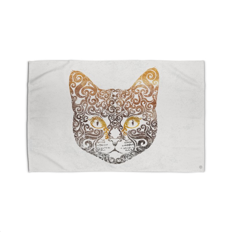 Swirly Cat Portrait 2 Home Rug by VectorInk's Artist Shop