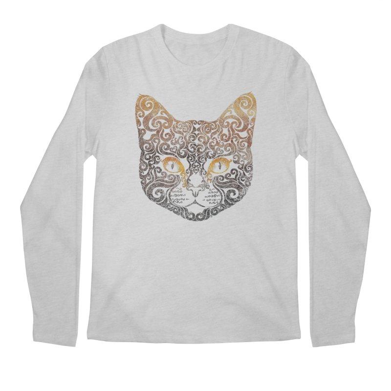 Swirly Cat Portrait 2 Men's Longsleeve T-Shirt by VectorInk's Artist Shop