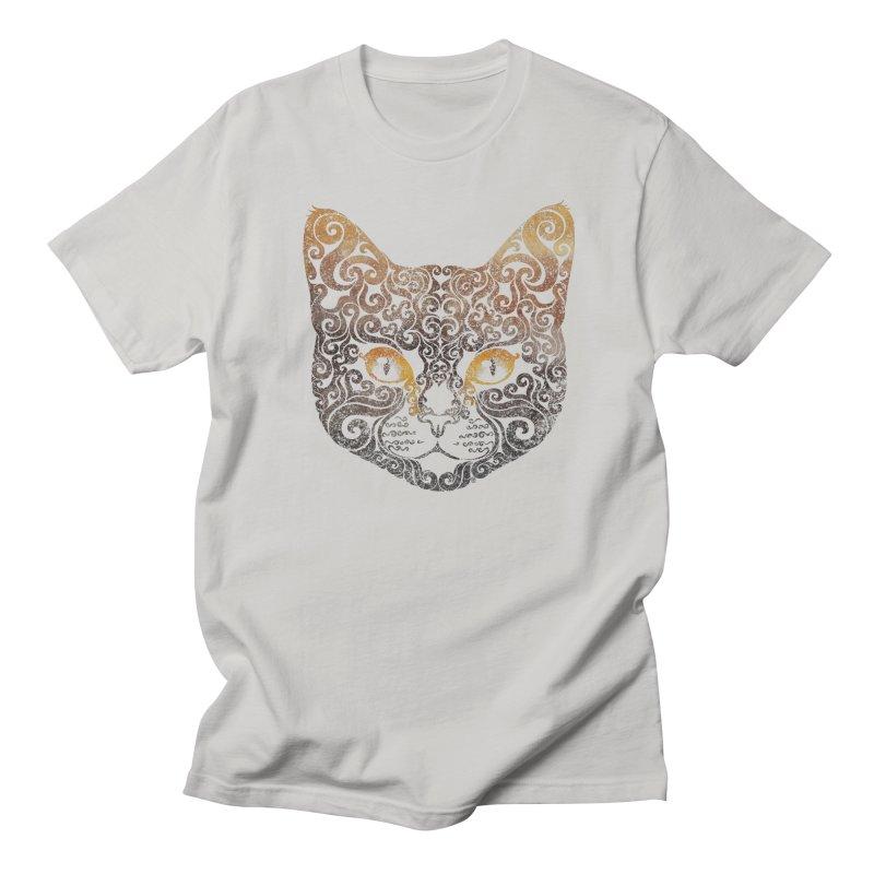 Swirly Cat Portrait 2 Women's Unisex T-Shirt by VectorInk's Artist Shop