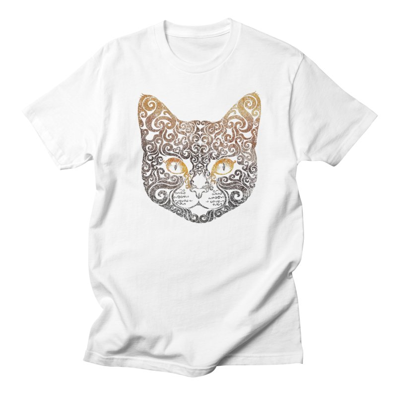 Swirly Cat Portrait 2 Women's Unisex T-Shirt by VectorInk's Artist Shop