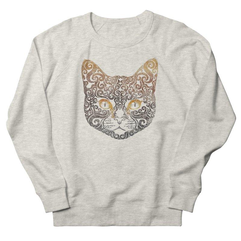 Swirly Cat Portrait 2 Women's French Terry Sweatshirt by VectorInk's Artist Shop
