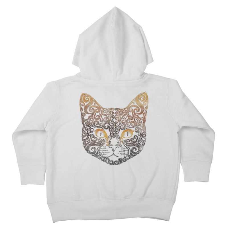 Swirly Cat Portrait 2 Kids Toddler Zip-Up Hoody by VectorInk's Artist Shop