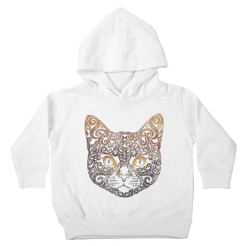 Swirly Cat Portrait 2 Kids Toddler Pullover Hoody by VectorInk's Artist Shop