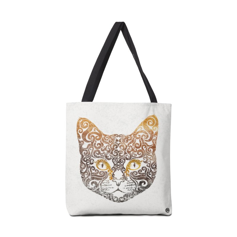 Swirly Cat Portrait 2 Accessories Bag by VectorInk's Artist Shop