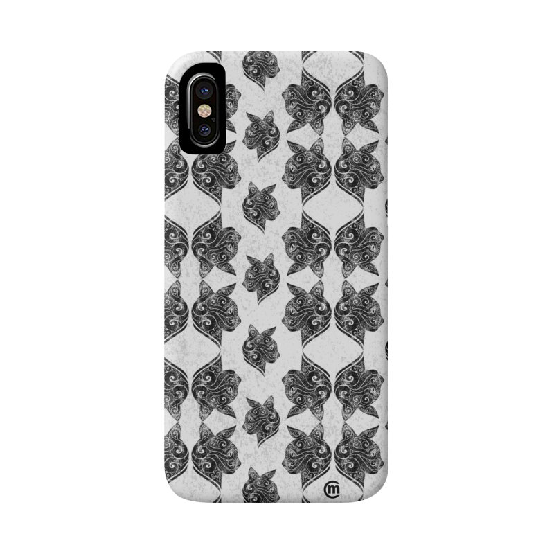 Swirly Cat Portrait 3 Accessories Phone Case by VectorInk's Artist Shop