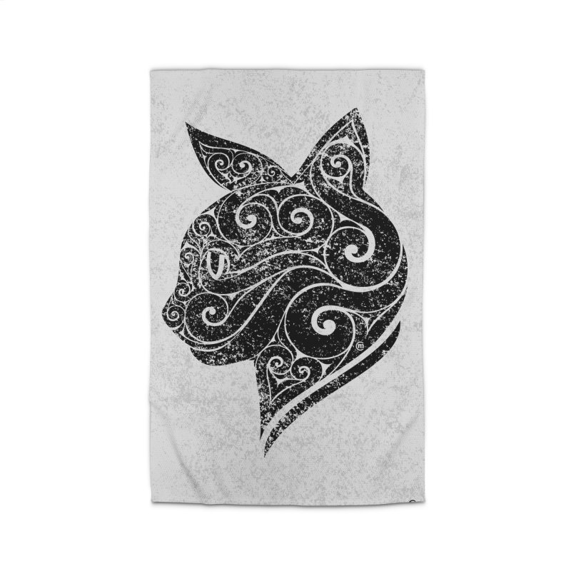 Swirly Cat Portrait 3 Home Rug by VectorInk's Artist Shop