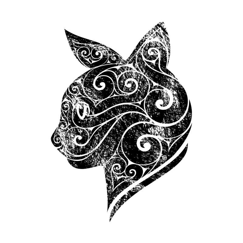 Swirly Cat Portrait 3 None  by VectorInk's Artist Shop