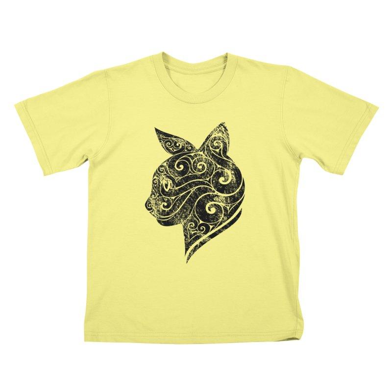 Swirly Cat Portrait 3   by VectorInk's Artist Shop