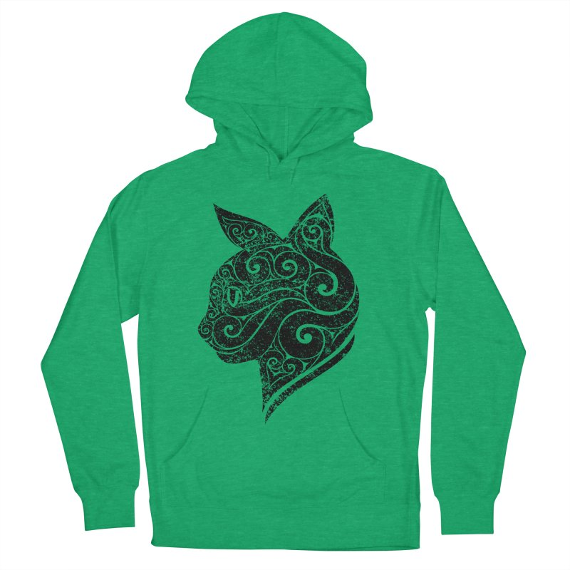 Swirly Cat Portrait 3 Women's Pullover Hoody by VectorInk's Artist Shop