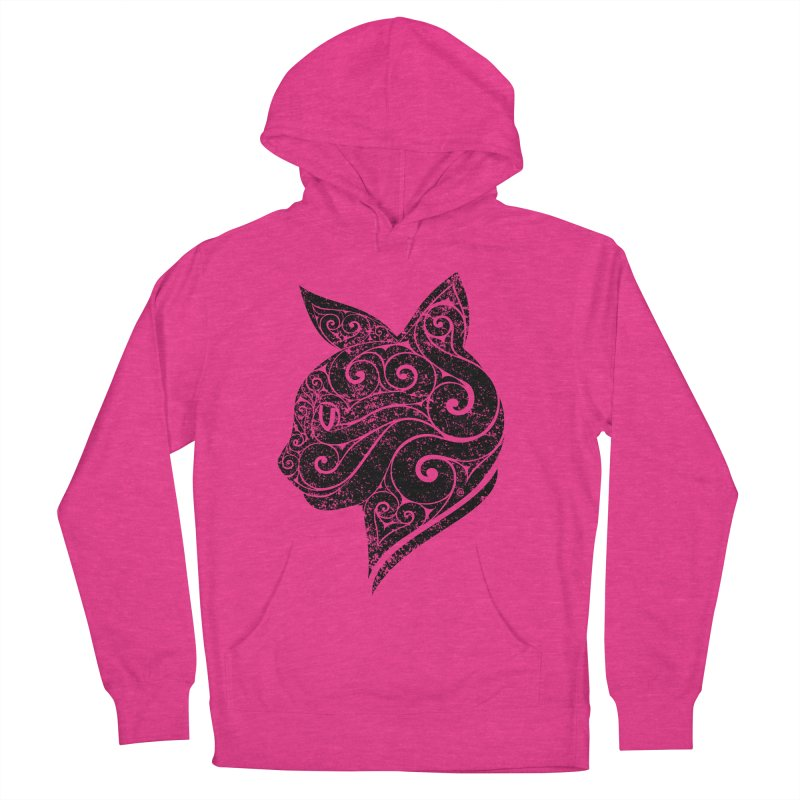 Swirly Cat Portrait 3 Women's Pullover Hoody by VectorInk's Artist Shop
