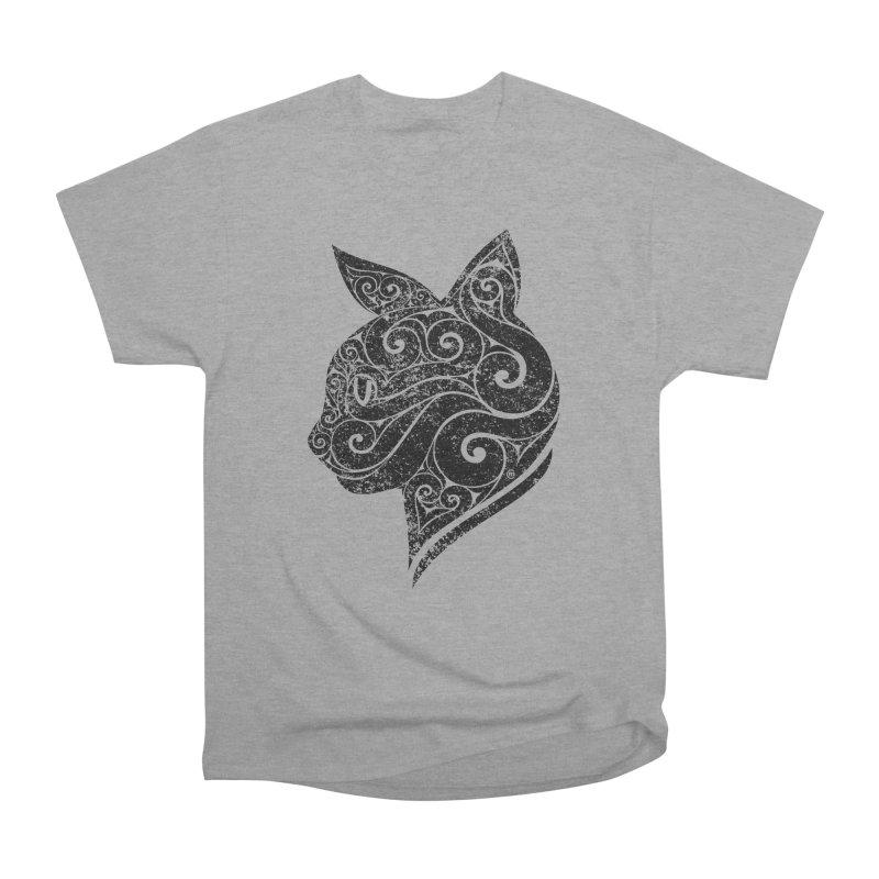 Swirly Cat Portrait 3 Women's Classic Unisex T-Shirt by VectorInk's Artist Shop