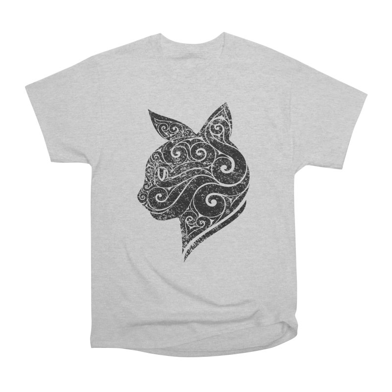 Swirly Cat Portrait 3 Men's Classic T-Shirt by VectorInk's Artist Shop