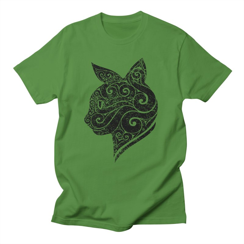 Swirly Cat Portrait 3 Women's Unisex T-Shirt by VectorInk's Artist Shop