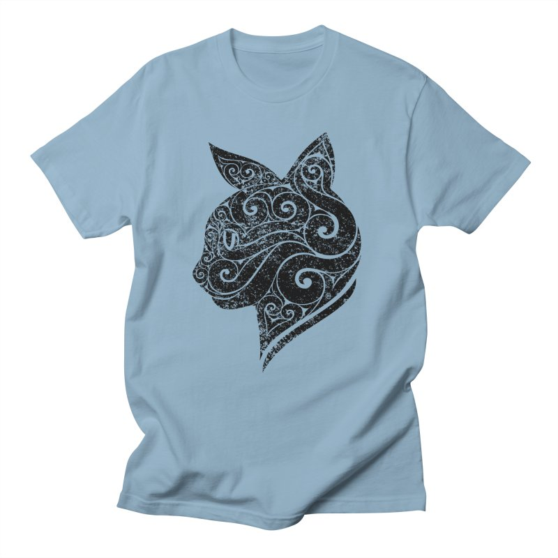 Swirly Cat Portrait 3 Women's Unisex T-Shirt by VectorInk's Artist Shop