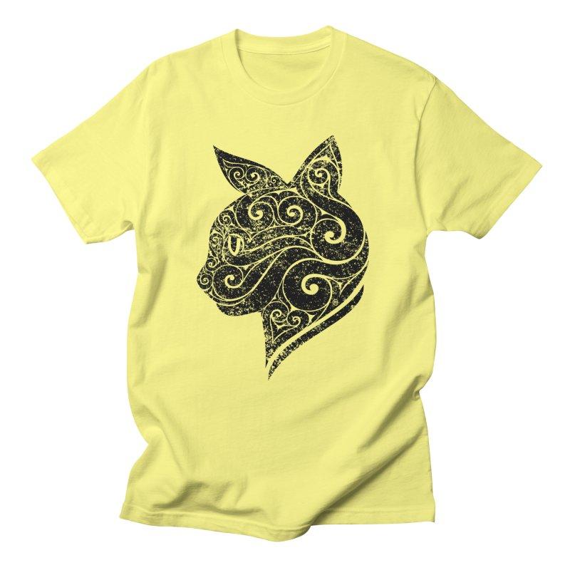 Swirly Cat Portrait 3 Men's T-Shirt by VectorInk's Artist Shop
