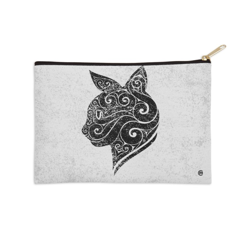 Swirly Cat Portrait 3 Accessories Zip Pouch by VectorInk's Artist Shop