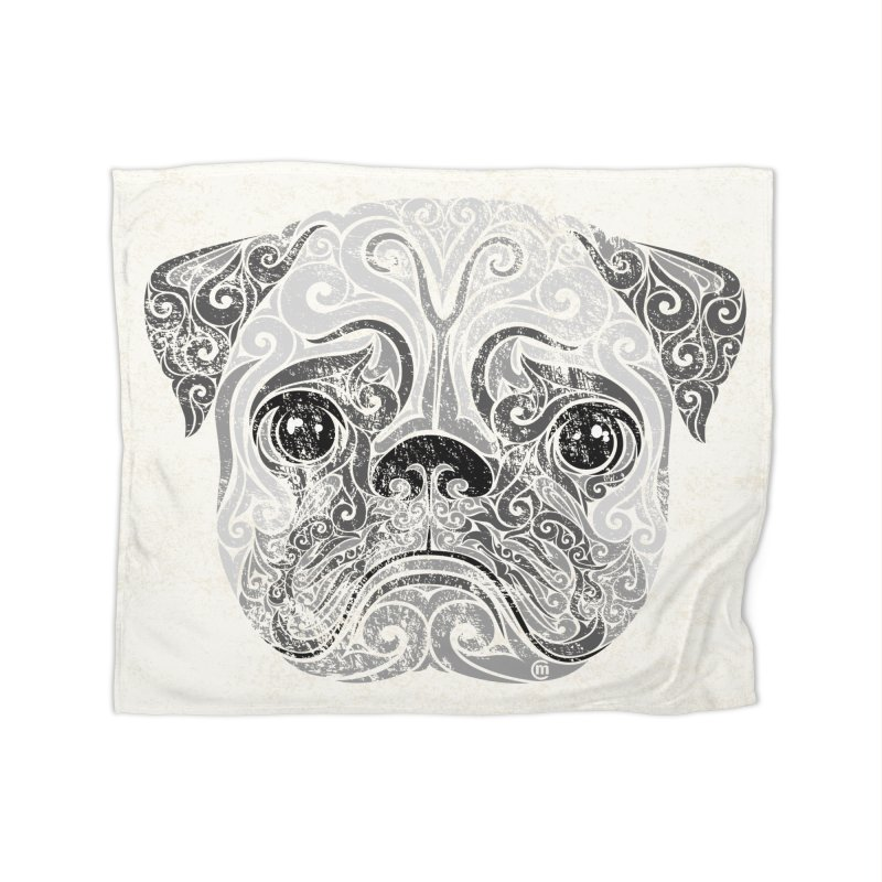 Swirly Pug Home Blanket by VectorInk's Artist Shop