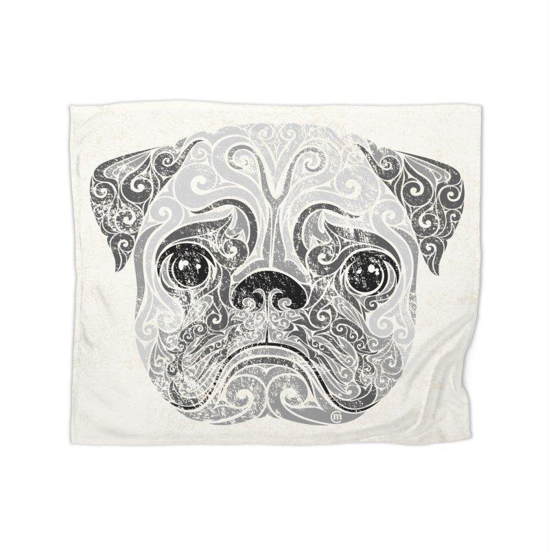Swirly Pug Home Blanket by VectorInk's Artist Shop
