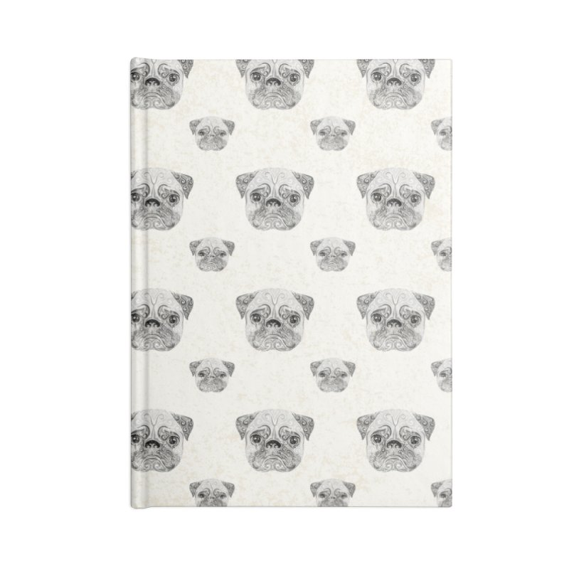 Swirly Pug Accessories Notebook by VectorInk's Artist Shop