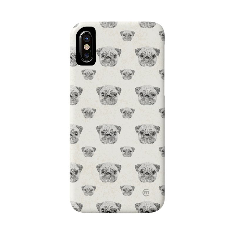 Swirly Pug Accessories Phone Case by VectorInk's Artist Shop
