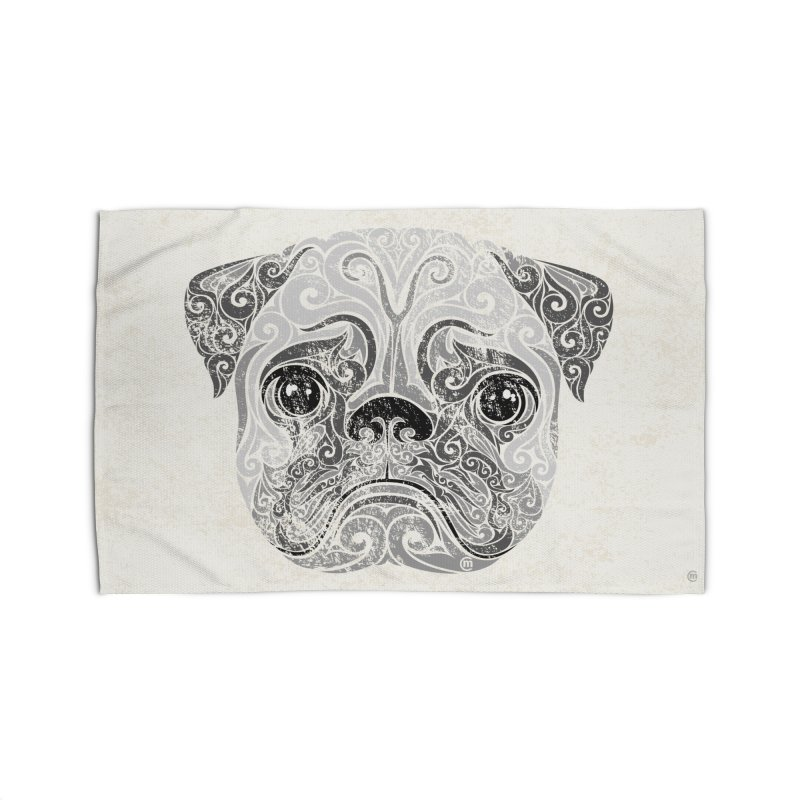 Swirly Pug Home Rug by VectorInk's Artist Shop