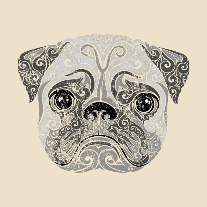 Swirly Pug None  by VectorInk's Artist Shop