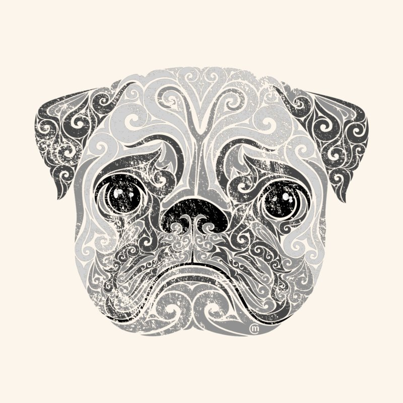 Swirly Pug Accessories Bag by VectorInk's Artist Shop