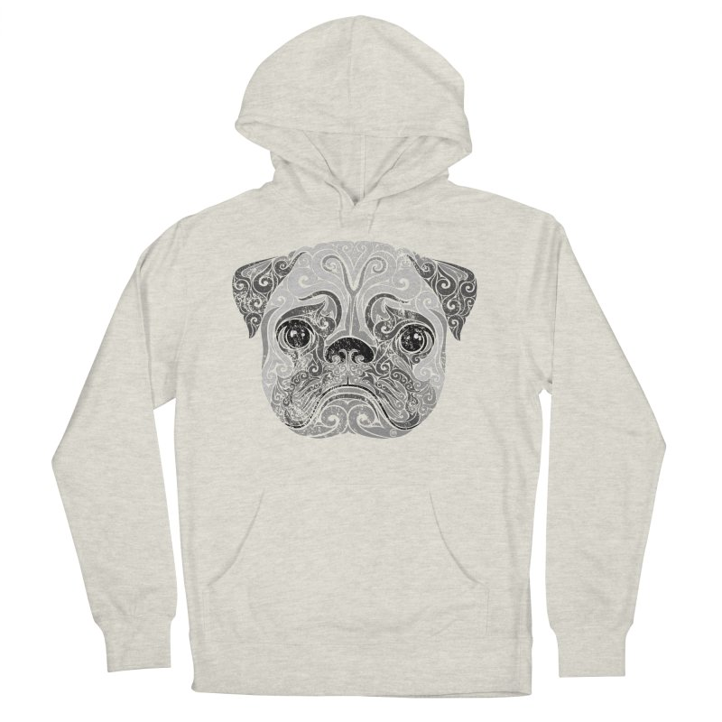 Swirly Pug Men's Pullover Hoody by VectorInk's Artist Shop