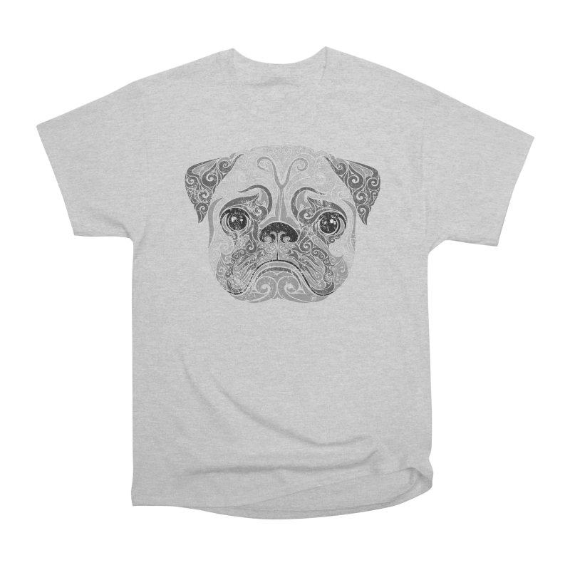 Swirly Pug Women's Heavyweight Unisex T-Shirt by VectorInk's Artist Shop