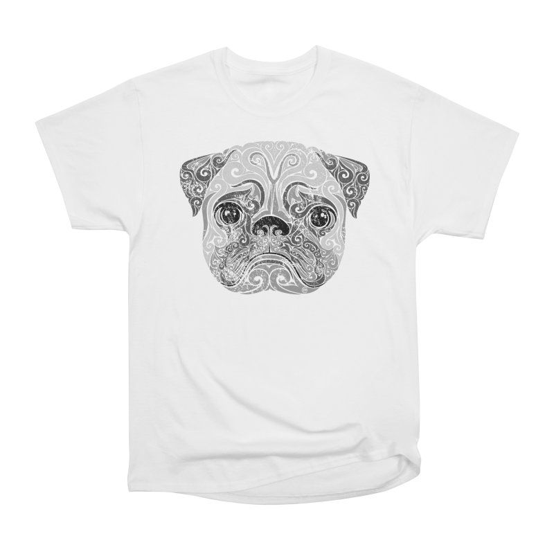 Swirly Pug Women's Classic Unisex T-Shirt by VectorInk's Artist Shop
