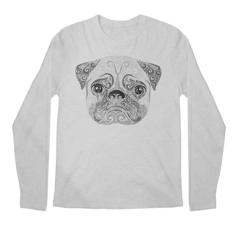 Swirly Pug Men's Longsleeve T-Shirt by VectorInk's Artist Shop