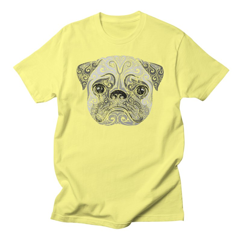 Swirly Pug Women's Unisex T-Shirt by VectorInk's Artist Shop