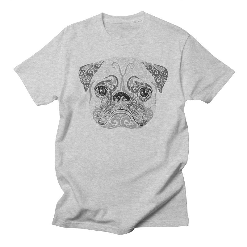 Swirly Pug Men's T-shirt by VectorInk's Artist Shop