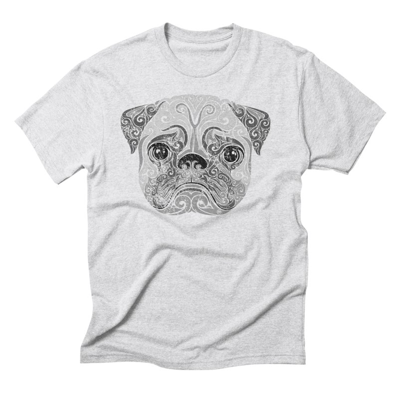 Swirly Pug Men's Triblend T-Shirt by VectorInk's Artist Shop
